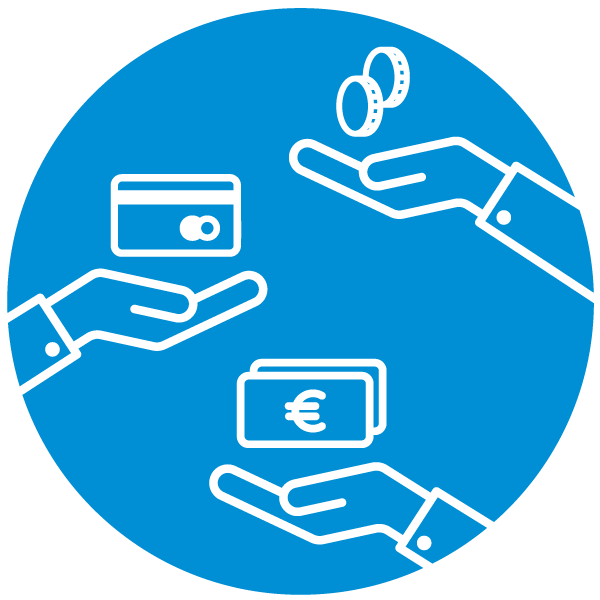 "Pictogram about ""payment method"""