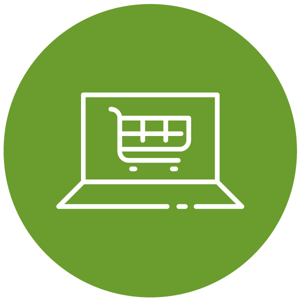 "Pictogram about ""shopping online"""