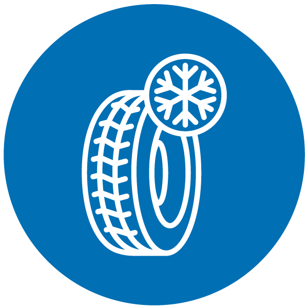 """Pictogram about """"winter tires"""""""