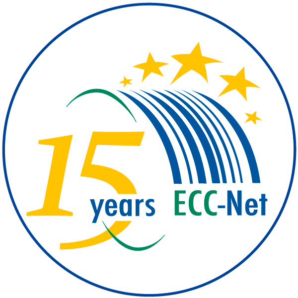 """Piktogramm zum Thema """"15 Jahre ECC-Net"""""""