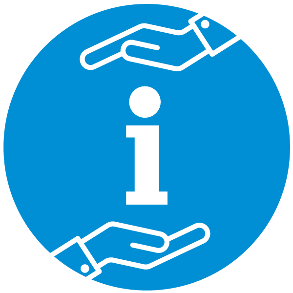 "Pictogram about ""responsibility for information"""