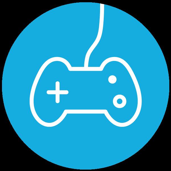 """Piktogramm zum Thema """"Videospiele"""""""