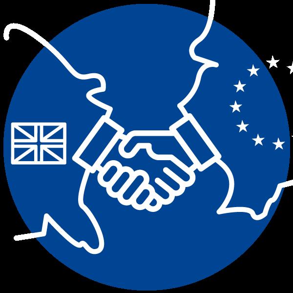 """Piktogramm zum Thema """"EU Abkommen mit UK"""""""