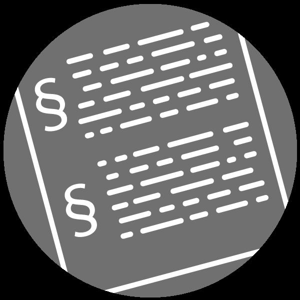"""Piktogramm zum Thema """"Gerichtsurteil"""""""