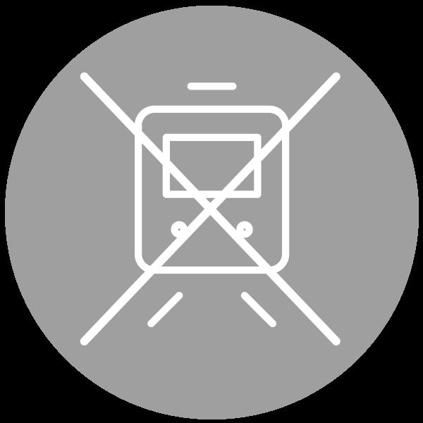 """Piktogramm zum Thema """"Zugsausfall"""""""