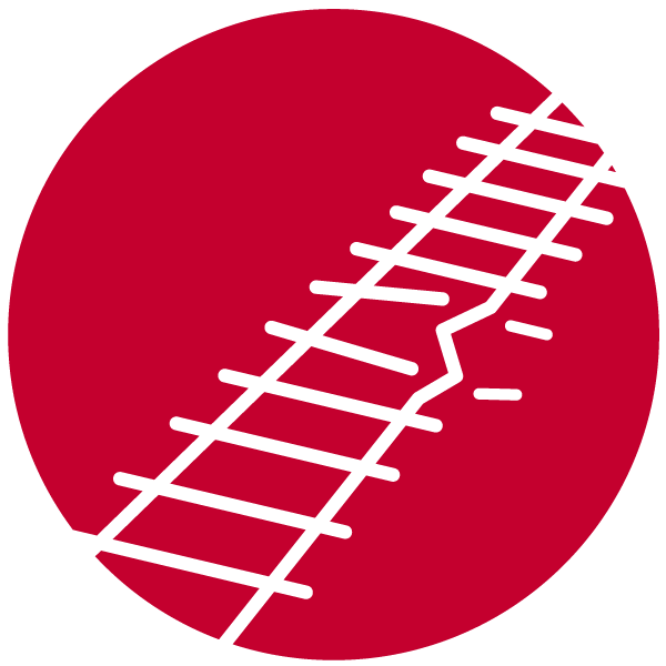 """Pictogram about """"Blocked track"""""""