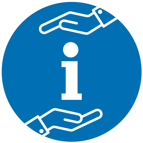 """Pictogram about """"Obligation to inform"""""""