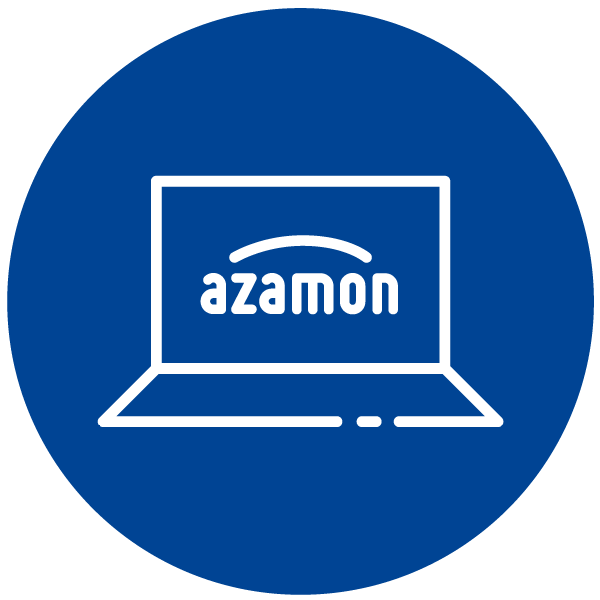 """Pictogram about """"Order with Amazon"""""""