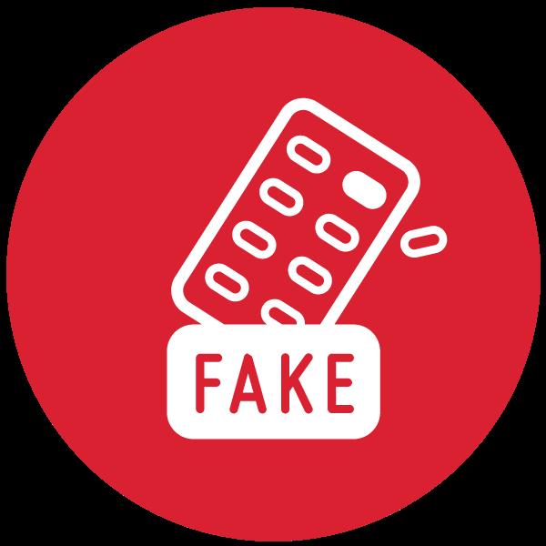 """Piktogramm zum Thema """"Unechte Online Apotheke"""""""