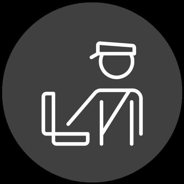 """Piktogramm zum Thema """"Vom Zoll beschlagnahmt"""""""