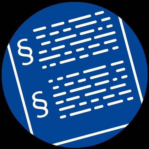 """Piktogramm zum Thema """"Klare EU Bestimmungen"""""""