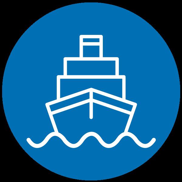 "Piktogramm zum Thema ""Per Schiff unterwegs"""