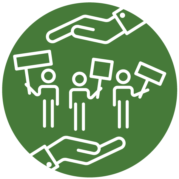 """Pictogram about """"Right to complaint"""""""