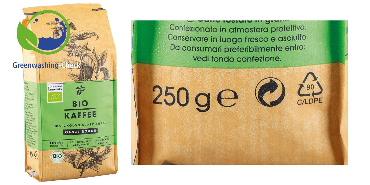 Ein Tchibo-Kaffee in Bio-Verpackung? Der Schein trügt