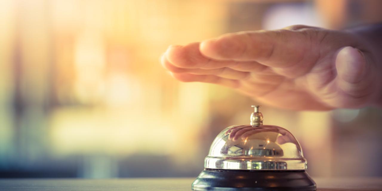 Glocke an der Hotelrezeption