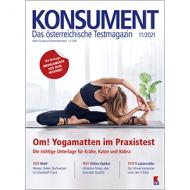 Junge Frau macht Übungen auf einer Yogamatte