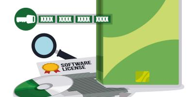 Software license illustration