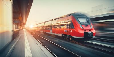 Train passes the platform
