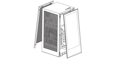 Grafik von Computergehäuse NZXT H1
