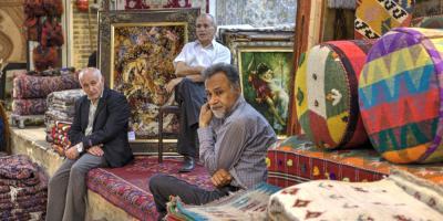 Teppichhändler und ihre Ware