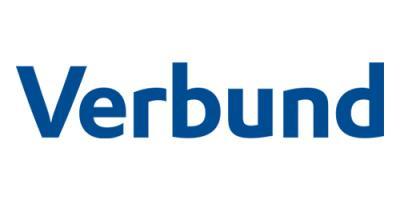 Logo der Verbund AG auf weißem Hintergrund