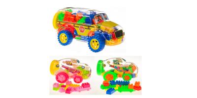 Block-Truck-Spielzeug der Müller-Eigenmarke Toy Place