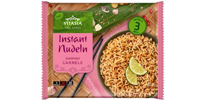 Vitasia Instant Nudeln Geschmack Garnele, 85 g
