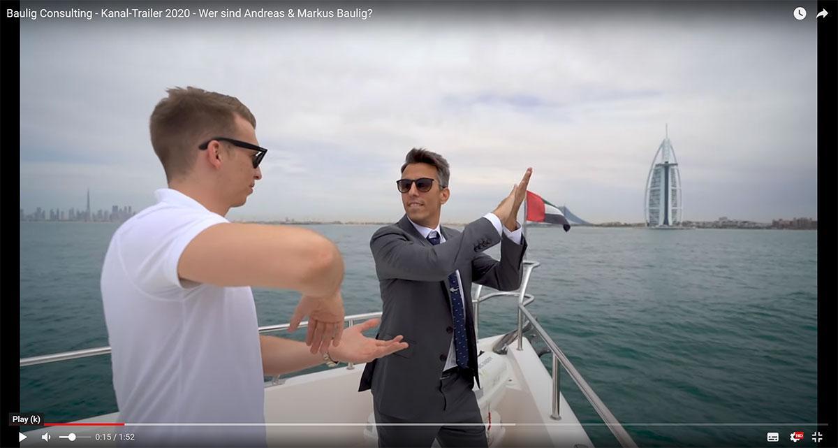 Screenshot vom Andreas Baulig Kanaltrailer auf YouTube