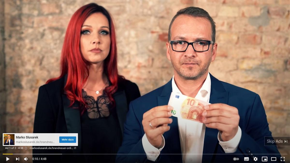 Youtbe Werbung von Marko Slusarek