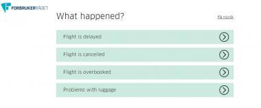 "Screenshot des Webseiten tools ""Flight Rights Calculator"""