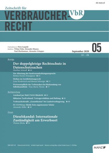 Zeitschrift für Verbraucherrecht 05/2020