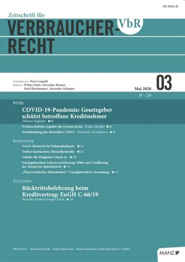 VBR Cover Heft 03/2020