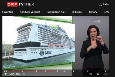 SCreenshot der Sendung Konkret mit dem Beitrag zu KreuzfahrtSafari