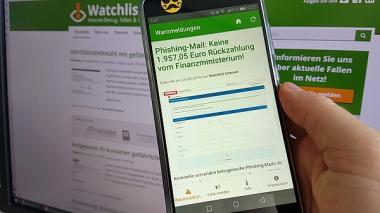 Screenshot der Watchlist Internet App