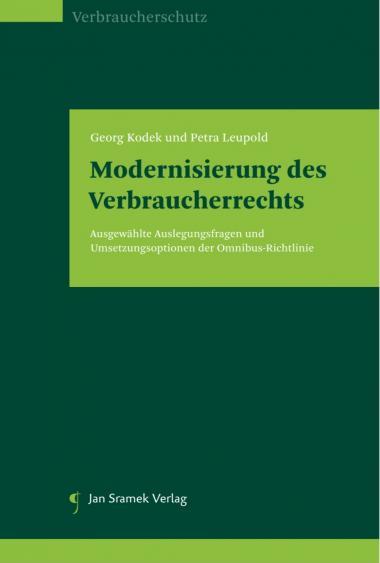 Kodek-Leupold Modernisierung des Verbraucherrechts_Buchcover