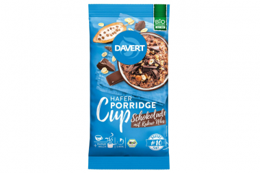 Foto von Davert Bio-Porridge Cup Schokolade mit Kakao Nibs