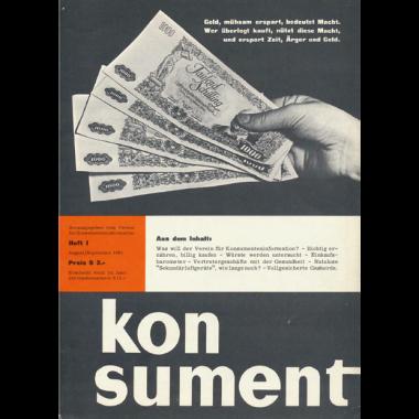 Erstausgabe KONSUMENT aus 1961