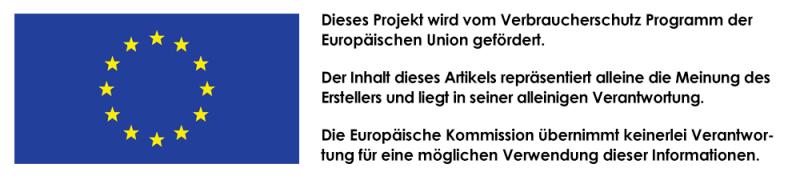 Dieses Projekt wird vom Verbraucherschutz Programm der Europäischen Union gefördert.